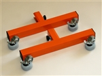 Add-on locking caster feet, Orange