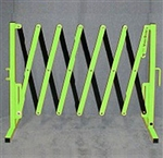 Accordion Portable Barricade (VERSA-GUARD) Fluorescent Green/Black
