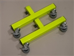 Add-on locking caster feet, Fluorescent Green