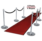 Chrome Posts (6-pack with 4 Ropes)
