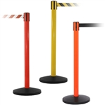 Yellow, Red and Orange  Barrier with 7.5ft Retractable Belt - QU700