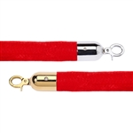 "Economy 1.5"" Velvet Rope Red - 6 Feet"