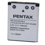 Pentax Battery Pack DLI63 for OPTIO M30/W30/T30
