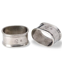Oval Napkin Rings (Pair) by Match Pewter