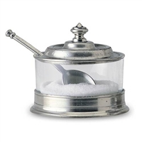 Jam Pot with Spoon by Match Pewter