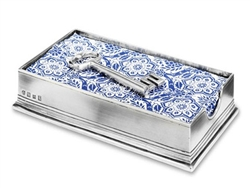 Dinner Napkin Box with Key by Match Pewter