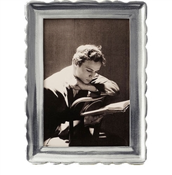 "Carretti Medium Rectangle Frame (4""x6"") by Match Pewter"