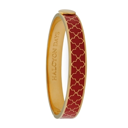 Agama Red & Gold Hinged Bangle by Halcyon Days