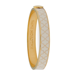 Agama Cream & Gold Hinged Bangle by Halcyon Days