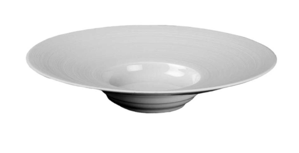 J L Coquet Hemisphere White Medium Rim Soup Plate