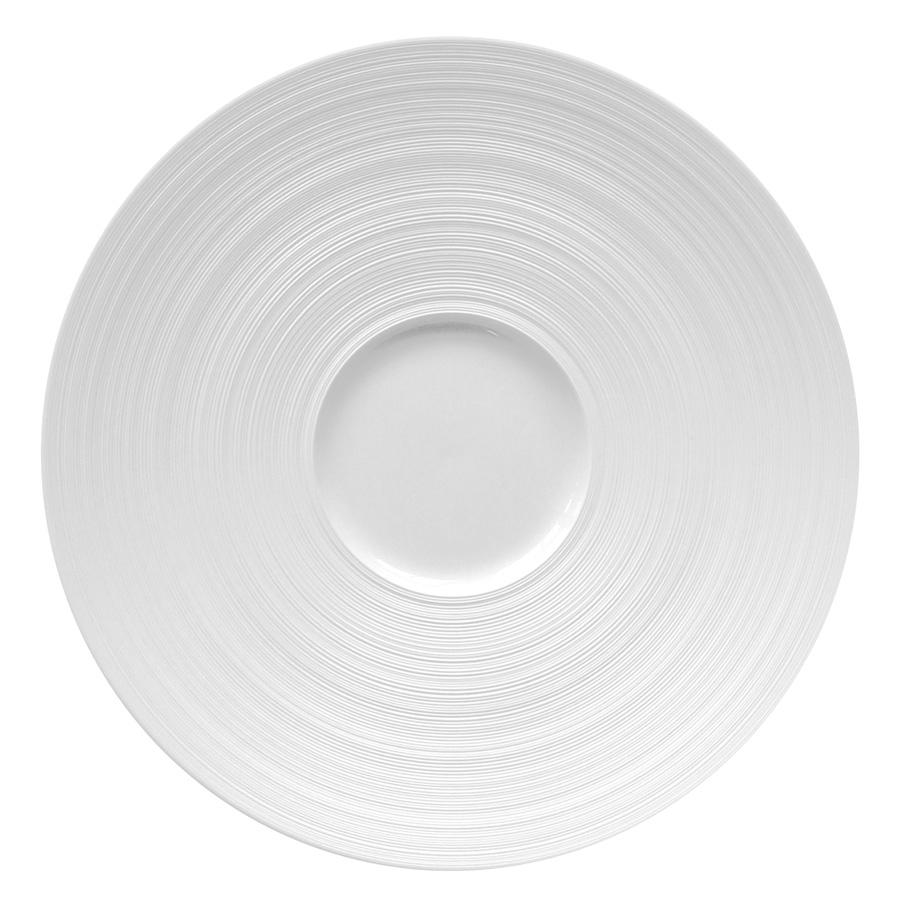 J L Coquet Hemisphere White Mise En Bouche Dish