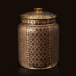 Fortuny Ashanti Grey Canister (Medium) by L'Objet