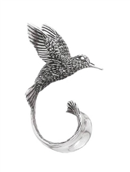 Hummingbird Pin in Sterling Silver by Grainger McKoy