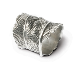 Feather Pewter Napkin Ring by Vagabond House