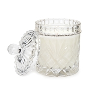 Tryst Candle in Crystal Biscuit Jar by Lady Primrose