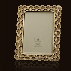 Fortuny Papiro Gold Picture Frames  by L'Objet