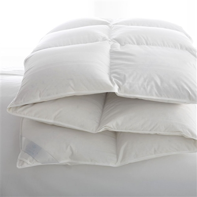 Scandia Home Comforters - Lucerne Hungarian White Goose Down Comforter
