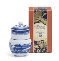 Blue Canton Shang Vessel Candle by Mottahedeh