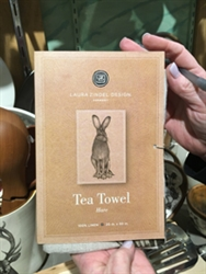 Hare Tea Towel by Laura Zindel Design