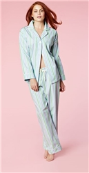 Classic Light Blue Stripe Small Pajamas by Bedhead