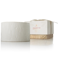Frasier Fir Ceramic Poured 3 Wick Pillar Candle (17 oz) by Thymes