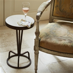 Bottoms Up Marble Drinks Table by Bunny Williams Home