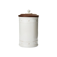 "Berry and Thread White 10"" Canister by Juliska"