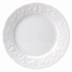Blanc de Blanc Bread & Butter Plate by Philippe Deshoulieres