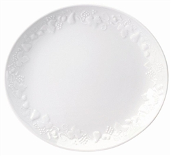 Blanc de Blanc Big Oval Steak Plate by Philippe Deshoulieres