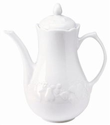 Blanc de Blanc Coffee Pot by Philippe Deshoulieres