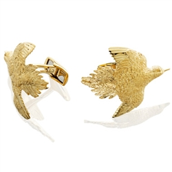 Dove Cufflinks in Silver/Gold by Grainger McKoy