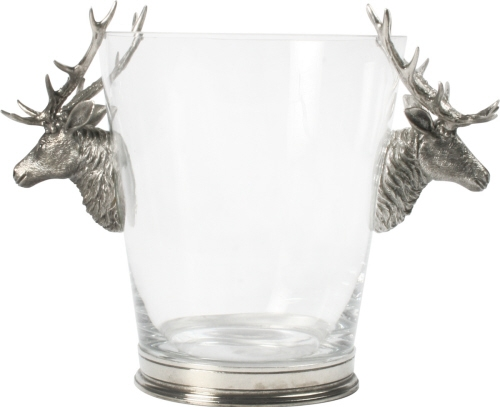 Vagabond House Pewter Deer Ice Bucket