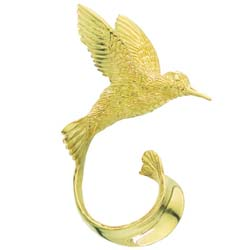 Hummingbird Pin in 14K and 18K Gold by Grainger McKoy
