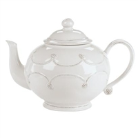 Berry and Thread White Teapot by Juliska