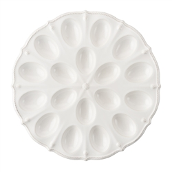 Berry and Thread Whitewash Deviled Egg Platter by Juliska