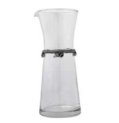 Acorn Oak Leaf Glass Carafe (Single) by Vagabond House