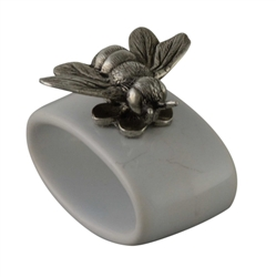Bee Stoneware Napkin Rings (Set of 4) by Vagabond House