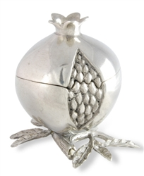 Pomegranate Pewter Spice Box by Vagabond House