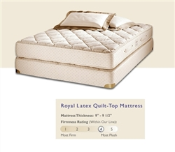 Royal Latex Quilt-Top Mattress and Box Spring by Royal Pedic