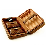 Ultimate Leather Travel Cigar Humidor  (Croc)