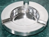 "Cast Aluminum 7"" Round Ashtray"