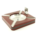 Square Ashtray with Cigar Cutter