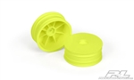 "PRO273502 Pro-Line Velocity 2.2"" 12mm Hex Front Yellow Wheels (2)"