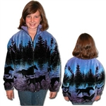 Twilight Horses Childs Fleece Jacket