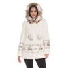 Hooded Reindeer Faux Fur Jacket