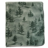 Evergreen Reversible 60x72 Fleece Blanket