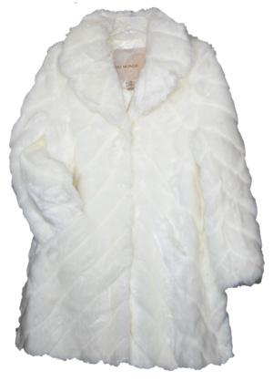 Faux Fur Coat, toggle front closure, Ladies sizes