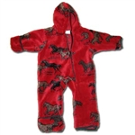 Red Horses Fleece Baby Jumper