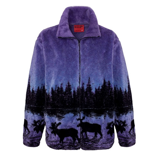 Adult Fleece Jackets Microplush Jacquard Full length Zipper ...