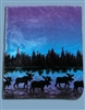 Twilight Moose Reversable 60 x 72 Fleece Blanket